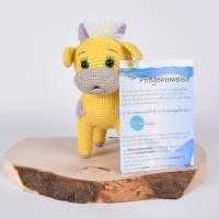 """Handgefertigte gehäkelte Puppe Kuh """"SINA"""" aus Baumwolle Bild 9"""