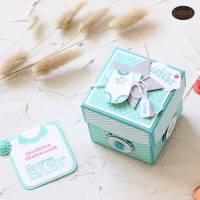 Explosionsbox zur Geburt eines Babys auch als Geldgeschenk  Bild 2