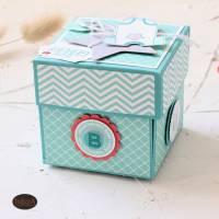 Explosionsbox zur Geburt eines Babys auch als Geldgeschenk  Bild 5