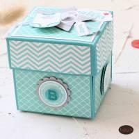 Explosionsbox zur Geburt eines Babys auch als Geldgeschenk  Bild 7