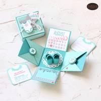 Explosionsbox zur Geburt eines Babys auch als Geldgeschenk  Bild 8