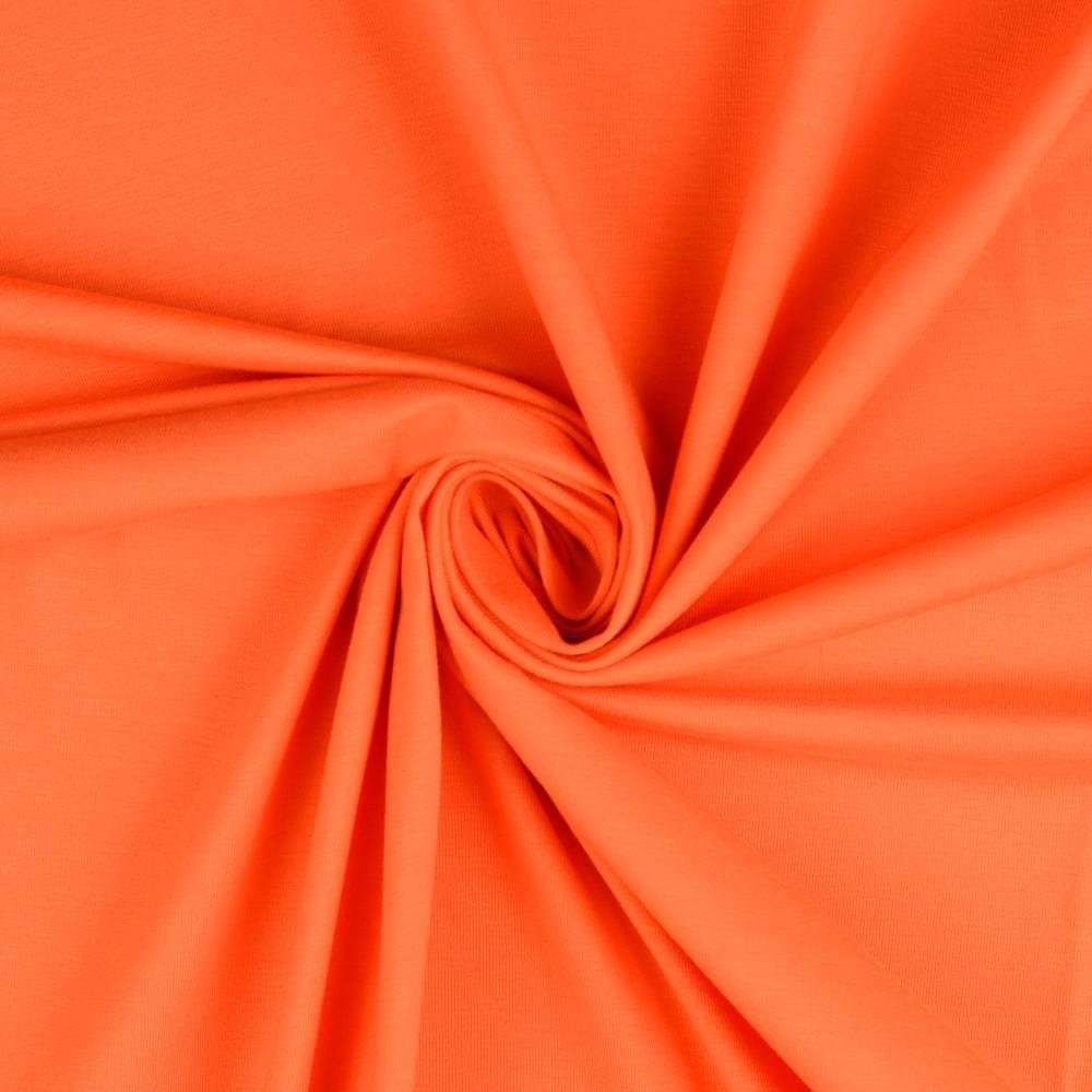 Jersey Baumwolljersey UNI Einfarbig Orange Oeko-Tex Standard 100 (1m/11,-€) Bild 1