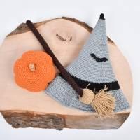 Handgefertigte gehäkelte Puppe Hexe Patricia aus Baumwolle Bild 9