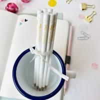 Bleistift, weiß, Erzieherin mit Herz Bild 1
