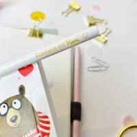 Bleistift, weiß, Erzieherin mit Herz Bild 4