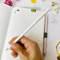 Bleistift, weiß, Erzieherin mit Herz Bild 5