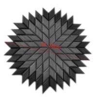 Großer Stern Sonne Energie Kraft Symbol Natur Mosaik aus Holz massiv Nussbaum Eiche Buche hangemacht Bild 2