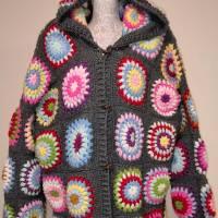 Cardigan, Granny-Square-Cardigan, Hoody, Boho-Cardigan, Damenjacke, Plus-Size-Cardigan Bild 1