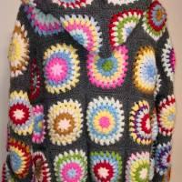 Cardigan, Granny-Square-Cardigan, Hoody, Boho-Cardigan, Damenjacke, Plus-Size-Cardigan Bild 2