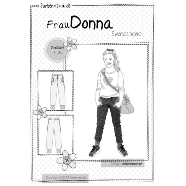 Farbenmix Schnittmuster FrauDonna Sweathose Papierbogen Bild 1