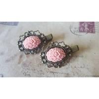 Zwei Haarklemmen ~Rosa Blüten~ Bild 1