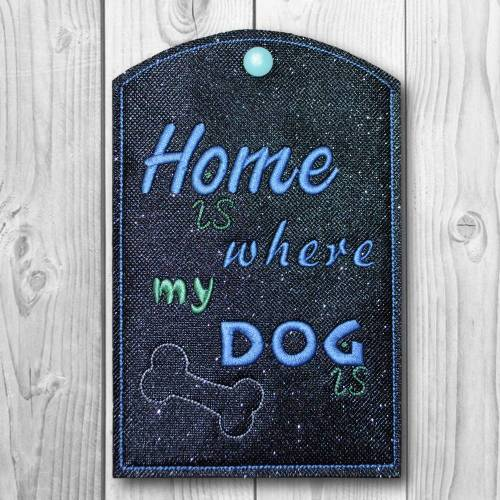 Impfpasshülle Home is where my dog is