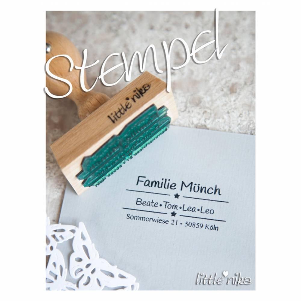 Stempel Adresse - Familie - Name STAR Bild 1
