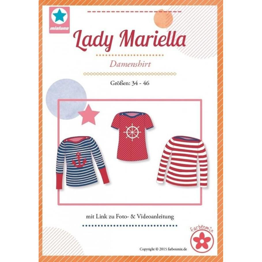 LadyMariella Shirt Schnittmuster Farbenmix Papierschnittbogen Bild 1