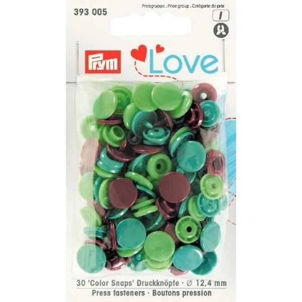 Druckknöpfe Color Snaps 12,4 mm Grün Mint Braun Bild 1
