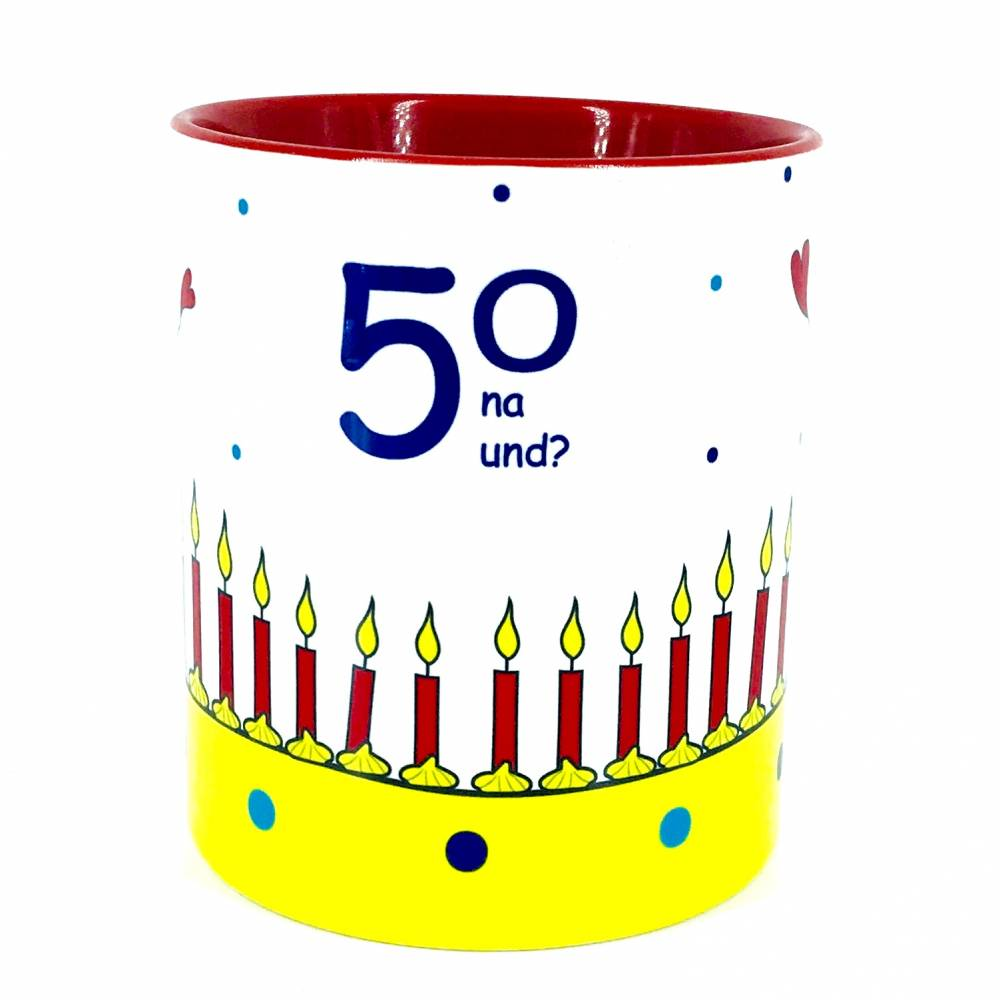 Geschenk 50. Geburtstag, Tasse zum 50. Geburtstag, 2/3-teiliges Geschenk-Set  Bild 1