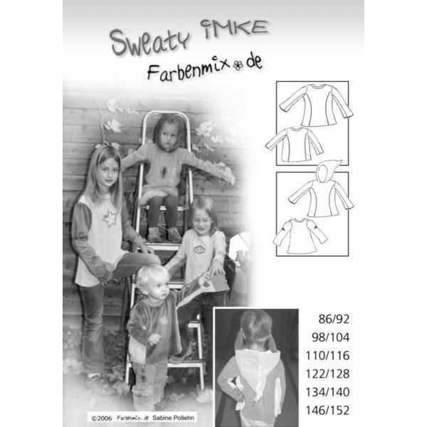 Imke Shirt Sweaty Schnittmuster Farbenmix Papierbogen Bild 1
