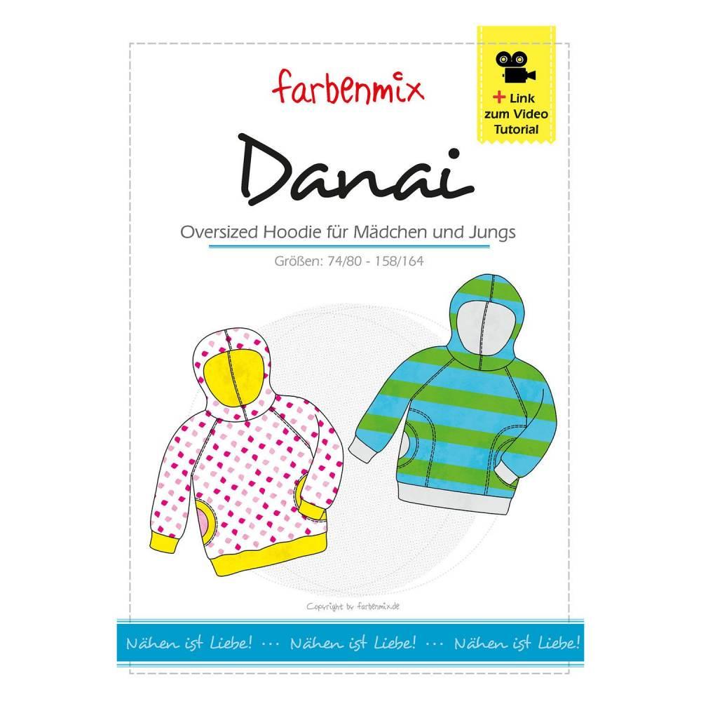 Farbenmix Danai neu Shirt Schnittmuster Papierschnittbogen Bild 1