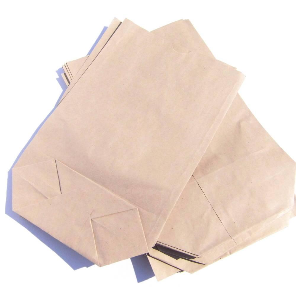 25 Bodenbeutel Kraftpapier Papiertüten braun 17 x 26 cm Bild 1