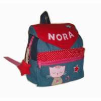 Kinderrucksack / Kindergartenrucksack Katzenstern mit Namen Bild 1