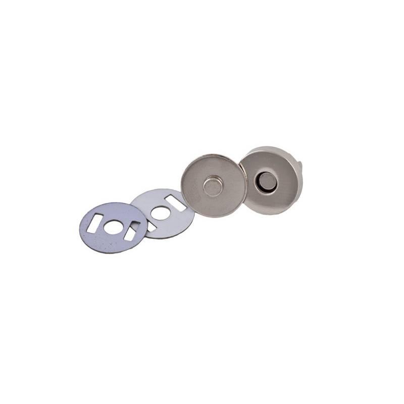 2 Magnetverschlüsse 14mm silberfarbig Bild 1