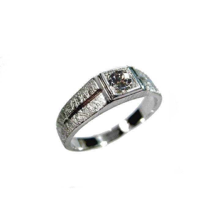Herren Ring Silber 925 Solitäring Herrenring Herrenchmuck Bild 1