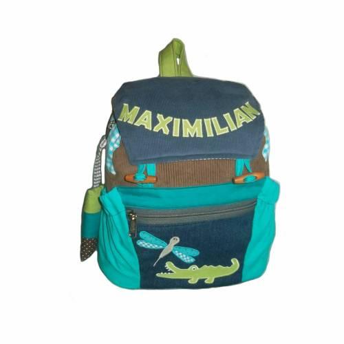 Kinderrucksack / Kindergartentasche Kroko mit Namen