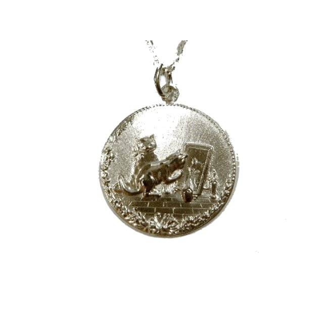 Anhänger Katze Medaille Silber 925 Katzen Cat Bild 1