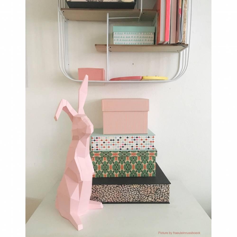 Papiertier, Kaninchen, Paperwolf Hasenskulptur Bild 1