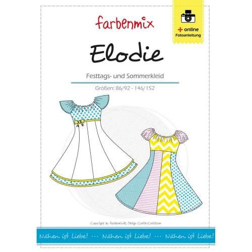 Elodie Drehkleid Schnittmuster Farbenmix Papierbogen Deutsch