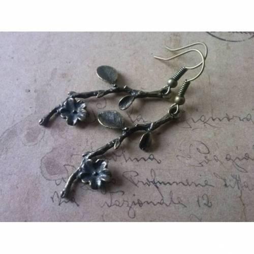 Zweig-Ohrringe- bronze-