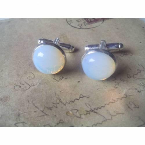Manschettenknöpfe -Opal-