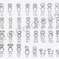 Familienstempel - Adressstempel für Familie - personalsierter Stempel - Figuren - Namen - Anschrift - Motiv: 329 Bild 2