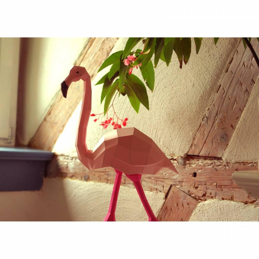 Flamingo DIY Bastelbogen von Paperwolf Bild 1