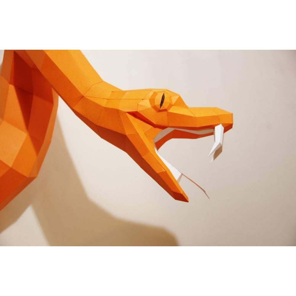 Schlange Aus Der Wand - Paperwolf Bastelbogen Bild 1