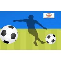 Vlies Bordüre: Fußball - optional selbstklebend - 18 cm Höhe Bild 1