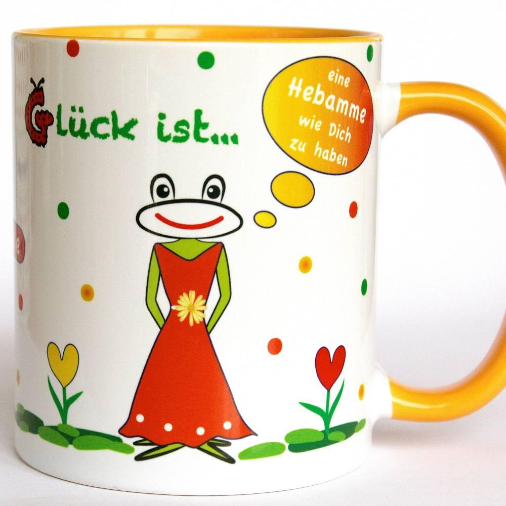 Hebamme Geschenk, Dankeschön, personalisierte Tasse, Kaffeebecher für die beste Hebamme Bild 1