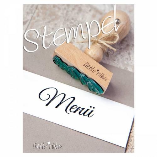 Stempel Hochzeit / Menü
