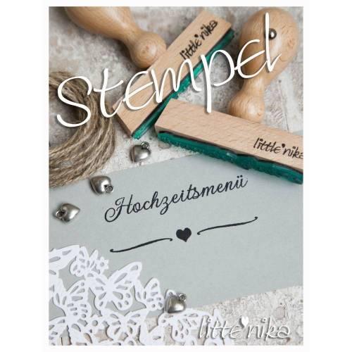Stempel Hochzeitsmenü LOVE im SET mit 2 Stempeln