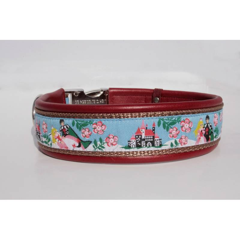 Hundehalsband »Dornröschen« mit echtem Leder unterlegt aus der Halsbandmanufaktur von dogs & paw Bild 1