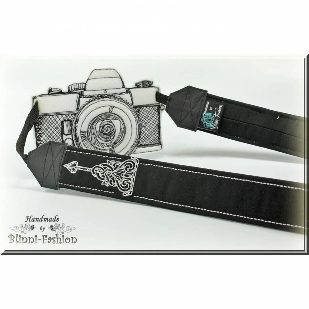 Kameragurt GOTHIC für DSLR Kamera,  Kameraband  für Spiegelreflex und Systemkamera Bild 1