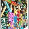 3D pop art stadt bunte häuser wand bild kunst color blocking fine art limited edition Bild 3