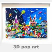 Köln 3D pop art kunst städte wand bild Kölner Dom fine art limited edition Bild 1