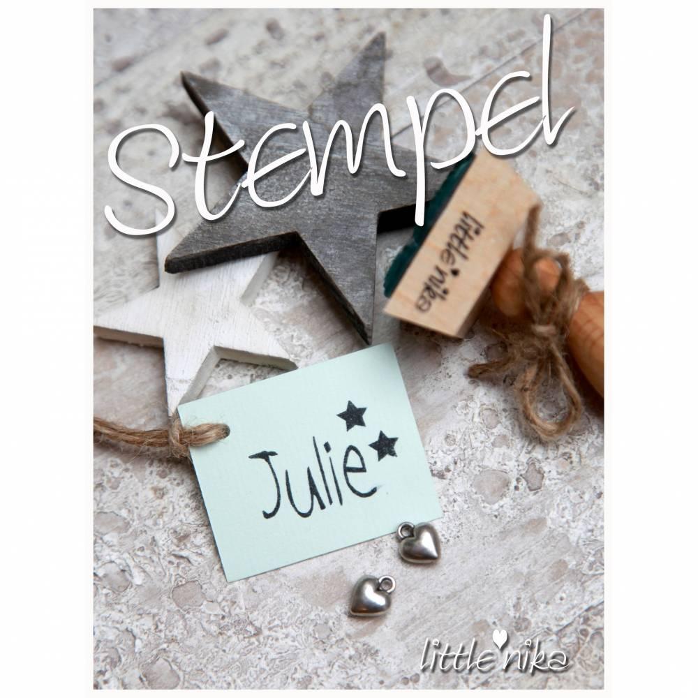 Stempel - Kind Name - Sterne  -Namensstempel personalisiert Bild 1