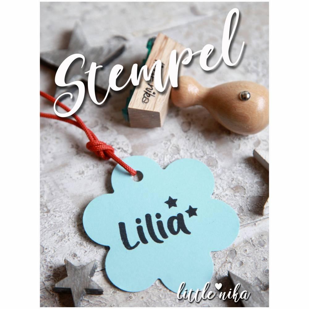 Stempel - Kind Name - Stern  -Namensstempel personalisiert Bild 1