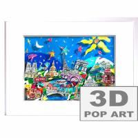 Paris 3D mixed media skyline pop art bild papier kunst souvenir geschenk Eiffelturm sehenswürdigkeiten   Bild 1