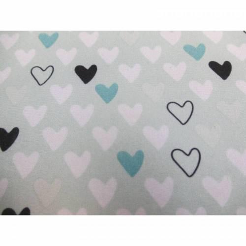 Softshell Sheldon mit Fleece -  Abseite , Herzen mint( 1m/13,00€ )