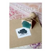 Stempel Schule  Belohnung / Belohnungsstempel / Elefant Lehrerstempel personalisiert für Kinder Bild 1