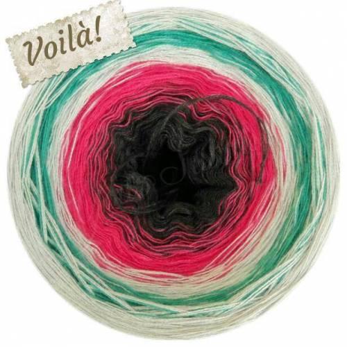 Farbverlaufsgarn  Bobbel Voilà!          (50 Pr. Baumwolle / 50 Pr. Polyacryl)  Artikel-Nr.: 0076