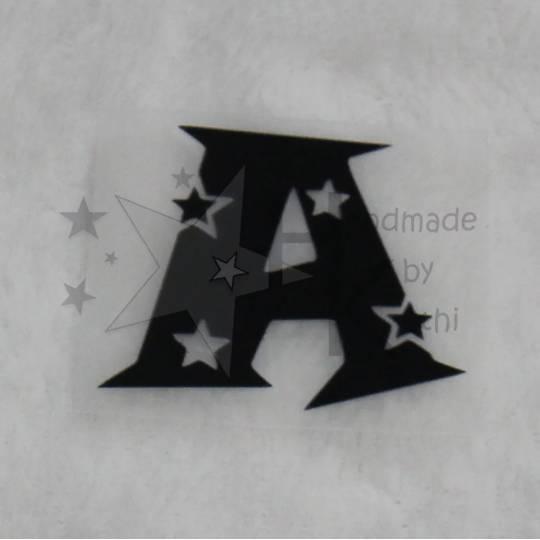 """Bügelbild - Buchstaben und Zahlen - """"Sterne"""" - zum Aufbügeln - viele Farben Bild 1"""
